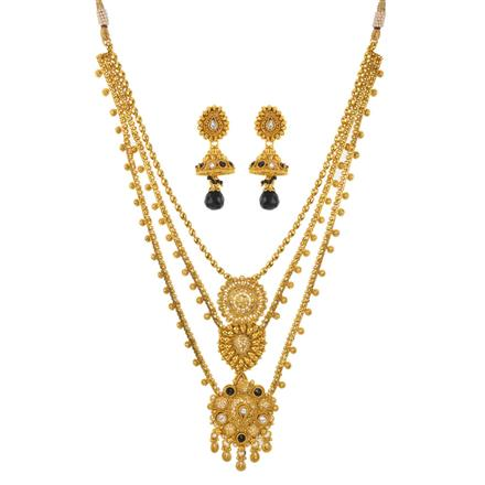 10959 Antique Classic Necklace with gold plating