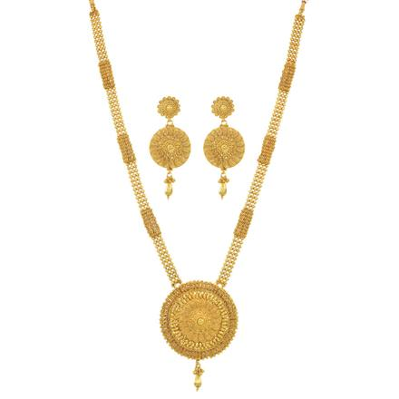 10961 Antique Long Necklace with gold plating