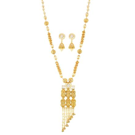 10962 Antique Mala Pendant Set with gold plating
