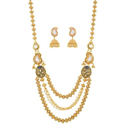 10963 Antique Mala Necklace with gold plating