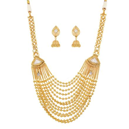 10964 Antique Mala Necklace with gold plating