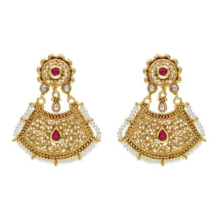 10988 Antique Classic Earring with gold plating