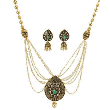 10991 Antique Mala Pendant Set with gold plating