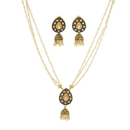 10992 Antique Mala Pendant Set with gold plating