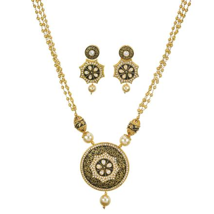 10994 Antique Mala Pendant Set with gold plating
