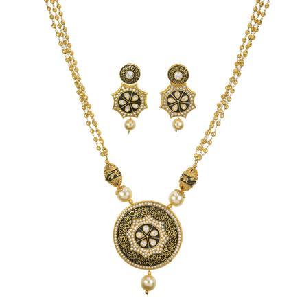 10994 Antique Mala Pendant Set with gold plating