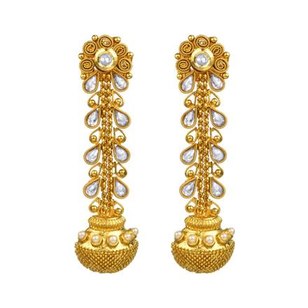 11003 Antique Long Earring with gold plating