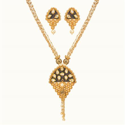 11009 Antique Mala Pendant Set with gold plating