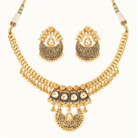 11015 Antique Classic Necklace with gold plating