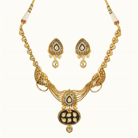 11016 Antique Classic Necklace with gold plating