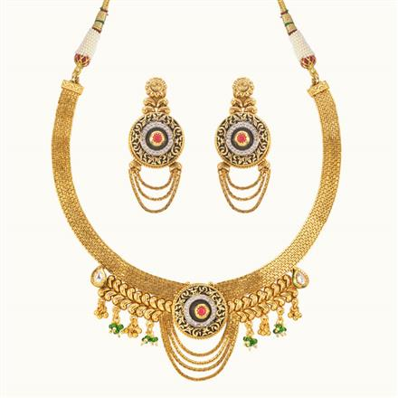 11023 Antique Classic Necklace with gold plating