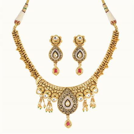 11024 Antique Classic Necklace with gold plating
