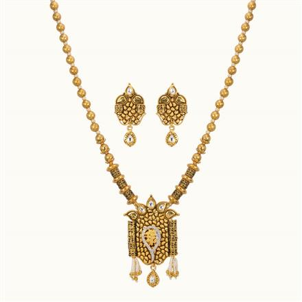 11025 Antique Mala Pendant Set with gold plating