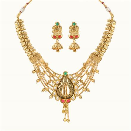 11053 Antique Classic Necklace with gold plating