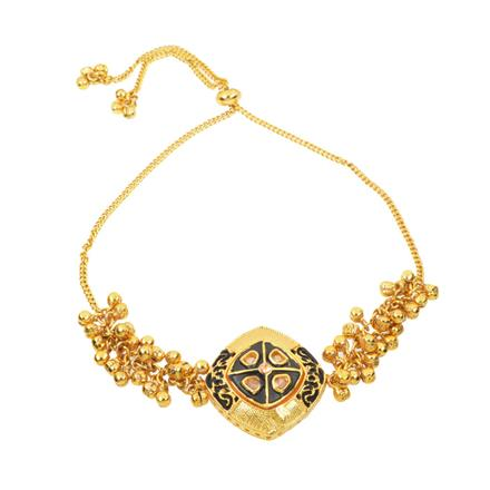 11065 Antique Adjustable Bracelet with gold plating