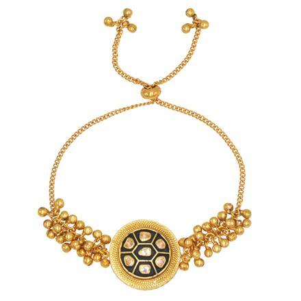 11066 Antique Adjustable Bracelet with gold plating