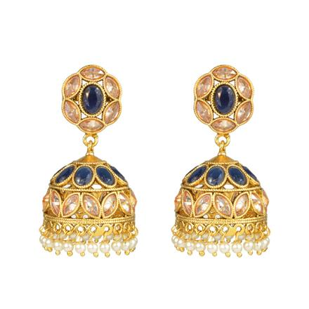 11076 Antique Jhumki with gold plating