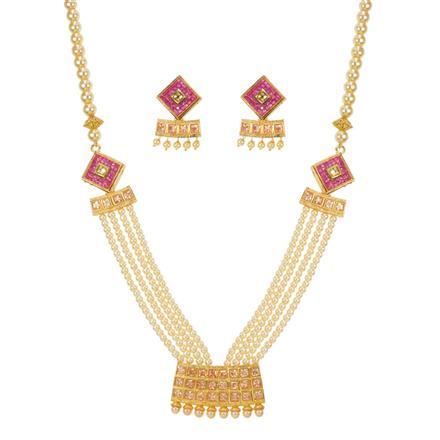 11077 Antique Mala Pendant Set with gold plating