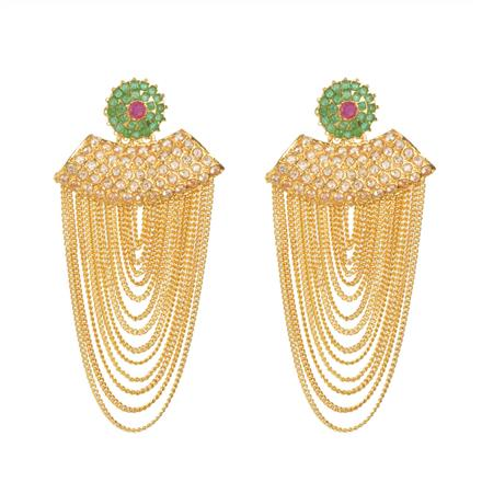11081 Antique Long Earring with gold plating