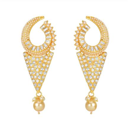 11083 Antique Chand Earring with gold plating