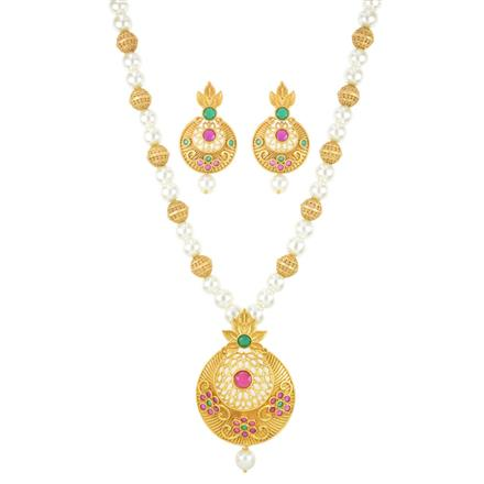 11088 Antique Mala Pendant Set with gold plating