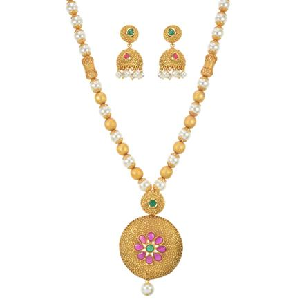 11089 Antique Mala Pendant Set with gold plating