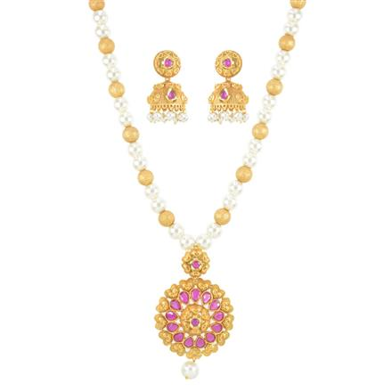 11090 Antique Mala Pendant Set with gold plating