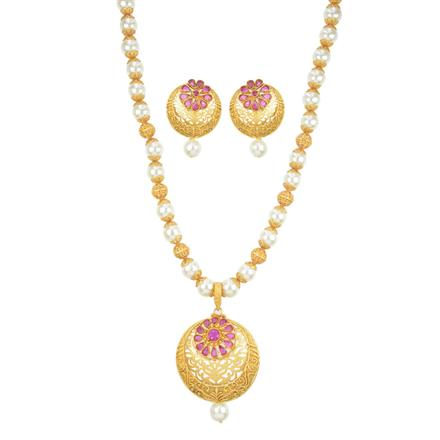 11091 Antique Mala Pendant Set with gold plating