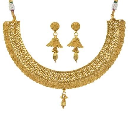 11096 Antique Plain Gold Necklace