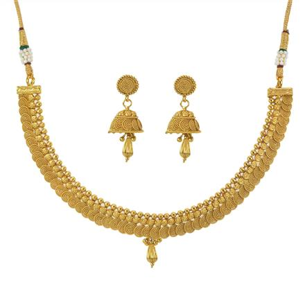 11098 Antique Plain Gold Necklace