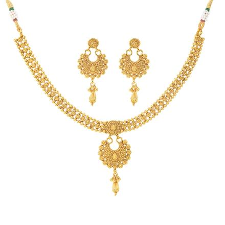 11099 Antique Plain Gold Necklace