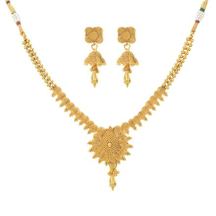 11100 Antique Plain Gold Necklace