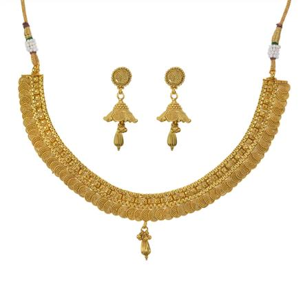 11102 Antique Plain Gold Necklace