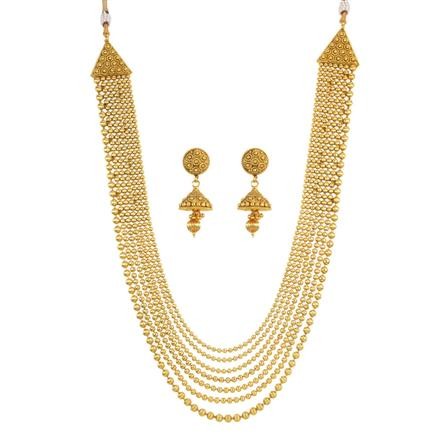 11108 Antique Long Necklace with gold plating