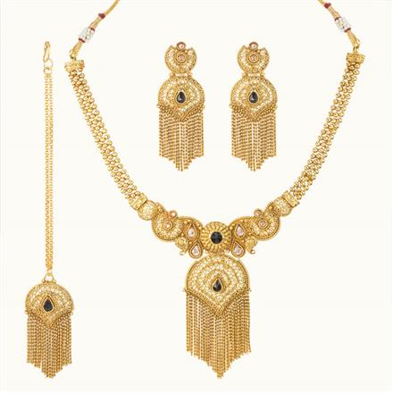 11110 Antique Classic Necklace with gold plating
