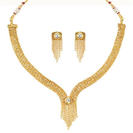 11111 Antique Delicate Necklace with gold plating
