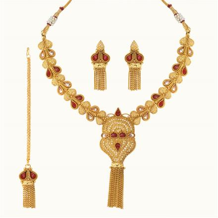 11112 Antique Classic Necklace with gold plating