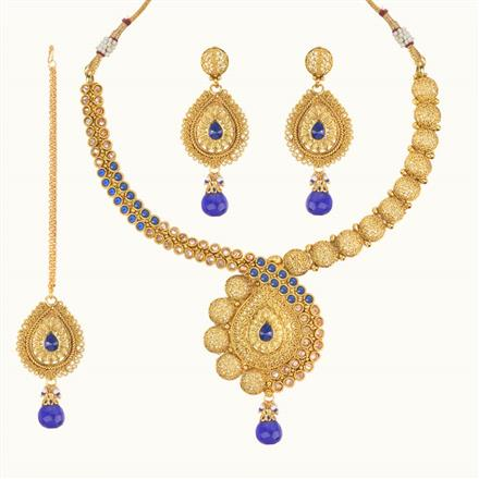 11113 Antique Classic Necklace with gold plating