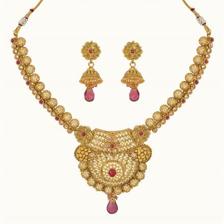 11114 Antique Classic Necklace with gold plating