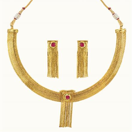 11115 Antique Delicate Necklace with gold plating