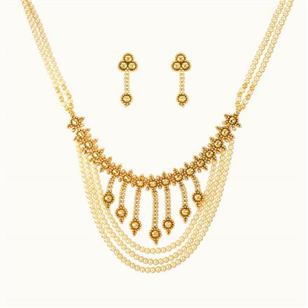 11116 Antique Choker Necklace with gold plating