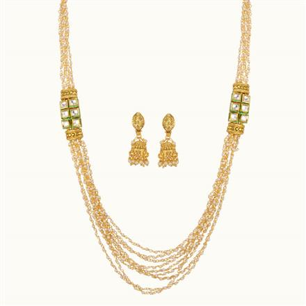 11117 Antique Mala Necklace with gold plating