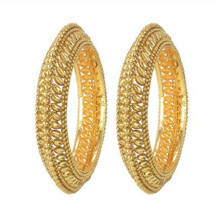 11123 Antique Plain Gold Bangles