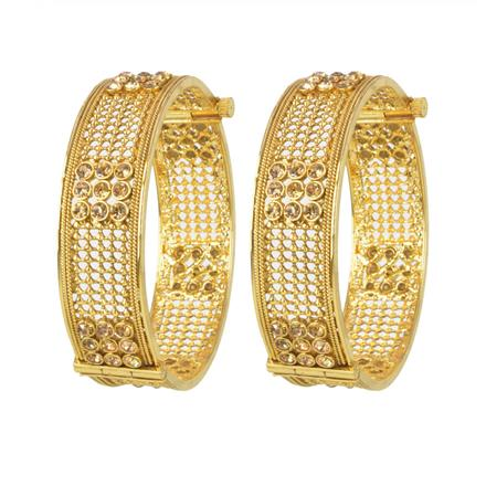 11124 Antique Openable Bangles with gold plating