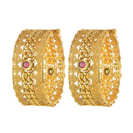 11126 Antique Openable Bangles with gold plating