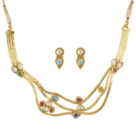 11137 Antique Classic Necklace with gold plating