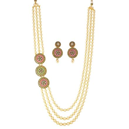 11138 Antique Long Necklace with gold plating