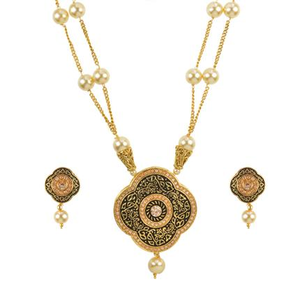 11140 Antique Mala Pendant Set with gold plating