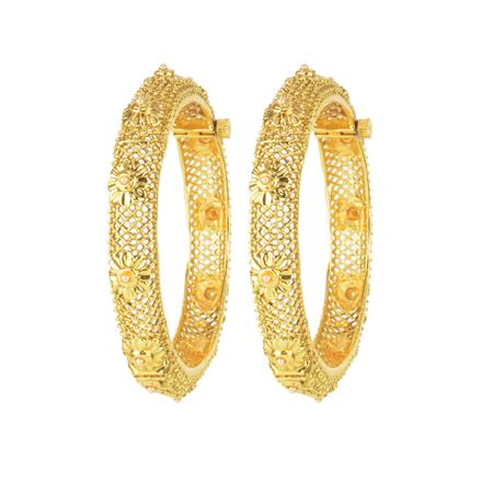 11147 Antique Openable Bangles with gold plating