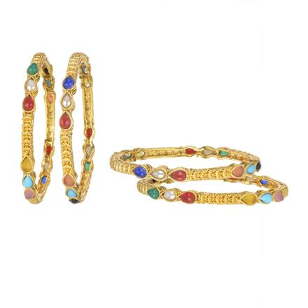 11148 Antique Classic Bangles with gold plating